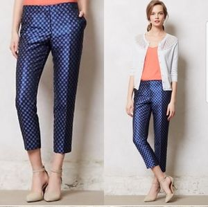 Anthropologie Foulard Jacquard Trousers Pants 8